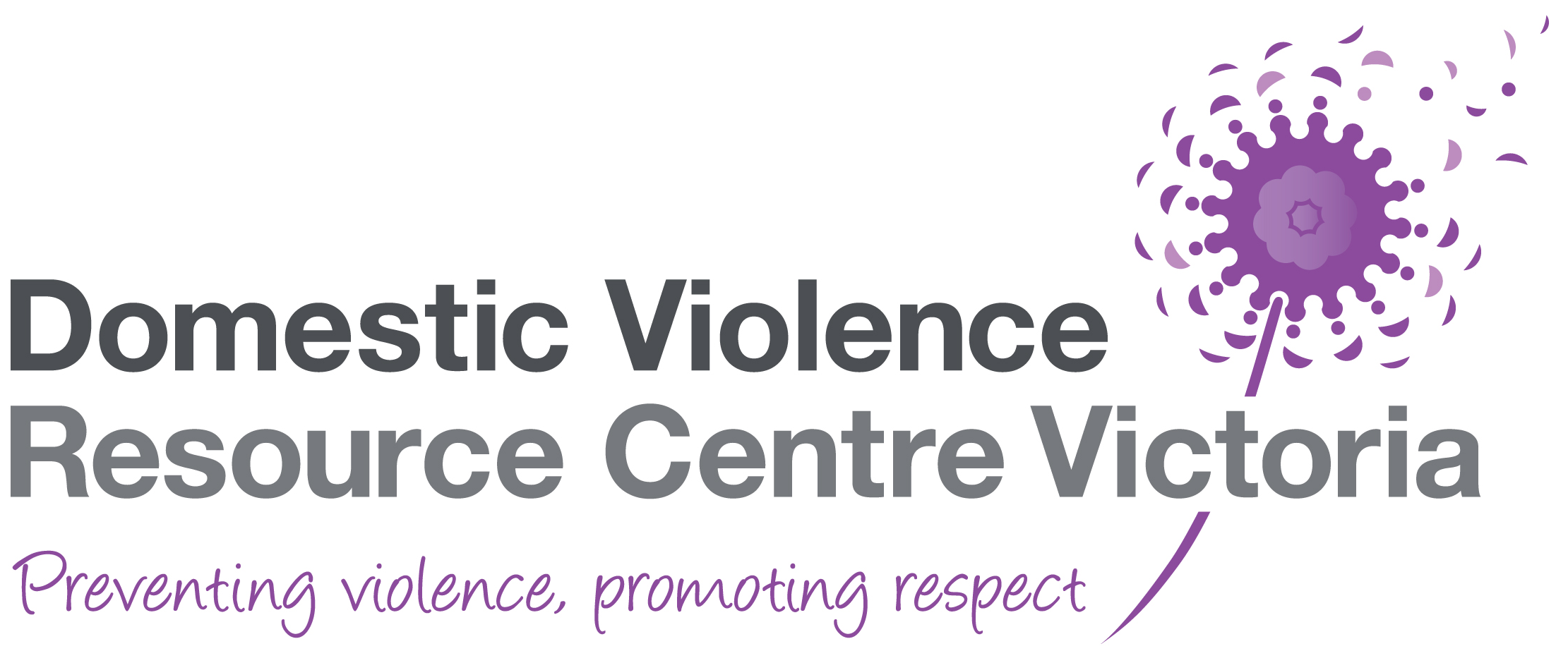 Domestic violence resource centre Victoria logo, Preventing violence, promoting respect