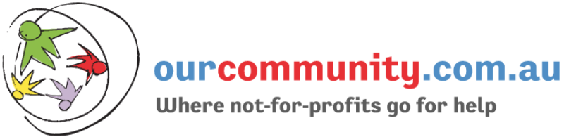 Our Community logo, Where not-for-profits go for help