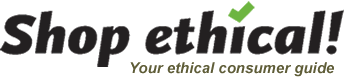 Shop ethical, your ethical consumer guide logo